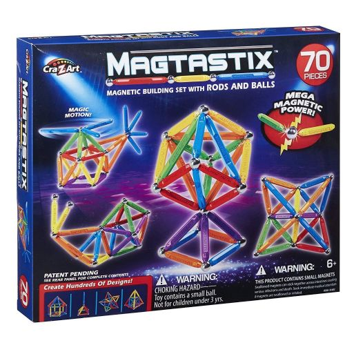 Magtastix 70 PIECE BUILDING Set -  3D MAGNETIC CONSTRUCTION - NEW